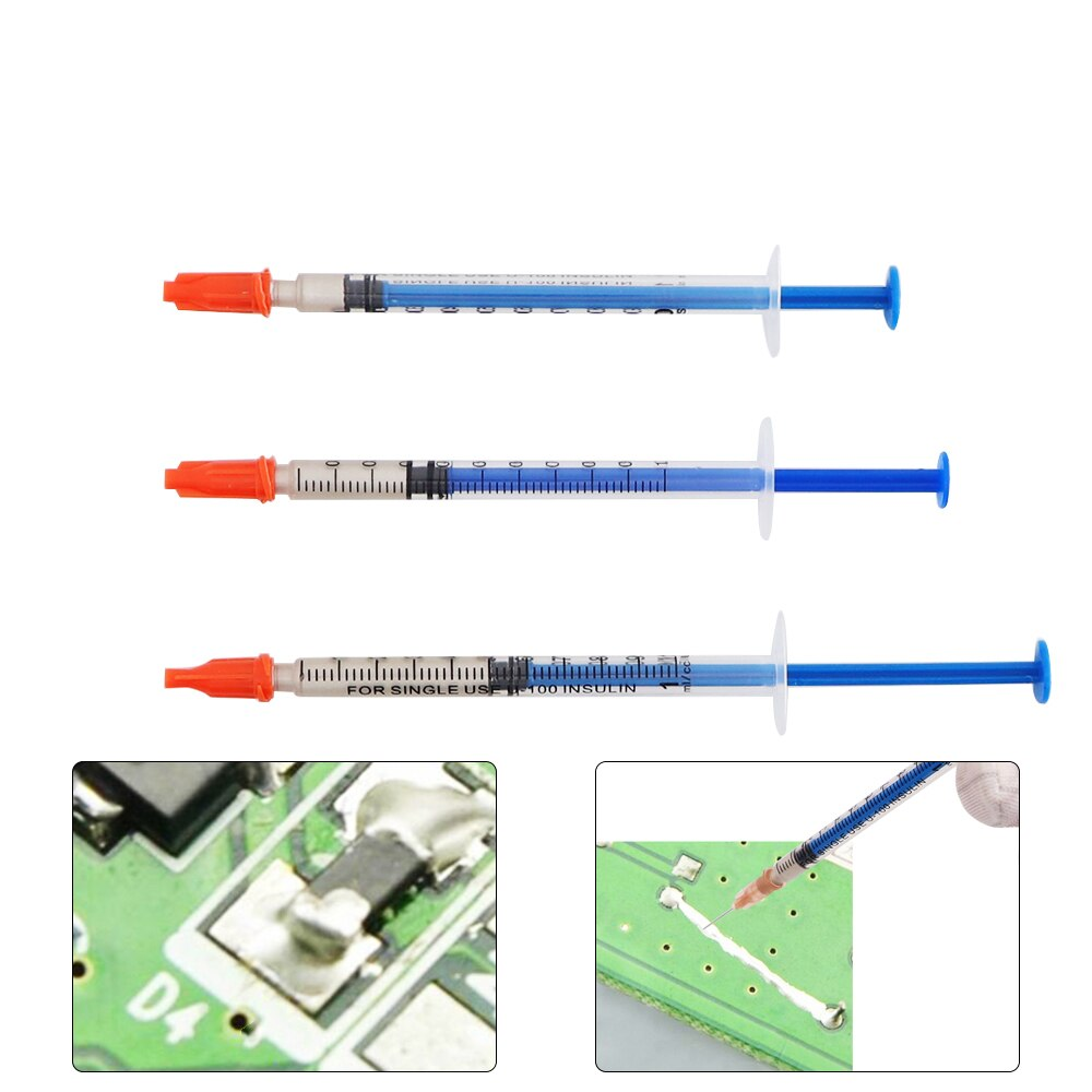 0.1ML/0.3ML/0.5ML Solderless Silver Conductive Adhesive Paste Electrically Conductive Adhesive Glue for PCB Rubber Repair 3