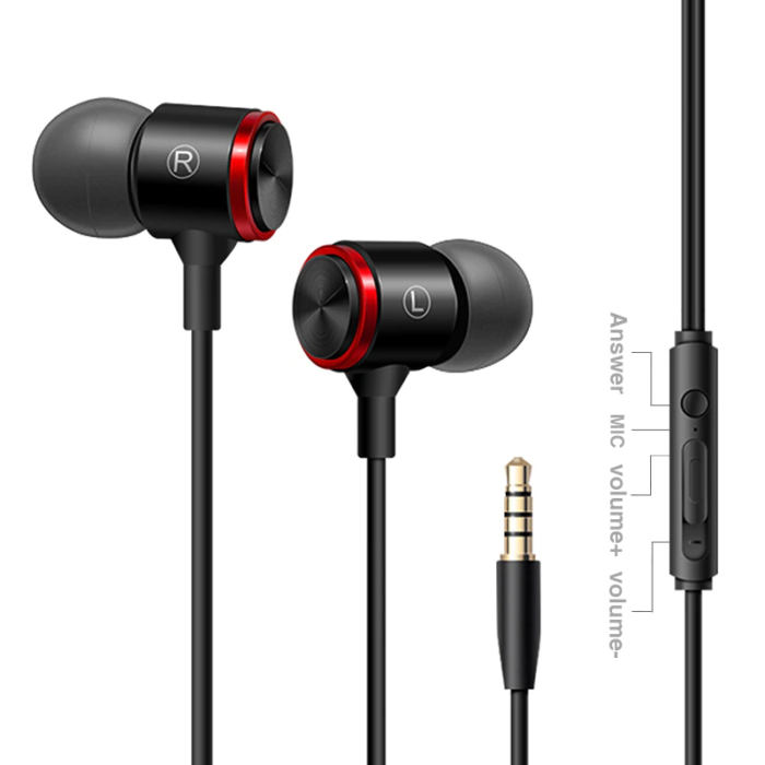 S320 Stereo Bass Headphone In-Ear 3.5MM Wired Earphones Metal HIFI Earpiece with MIC for Xiaomi Samsung Huawei Phones